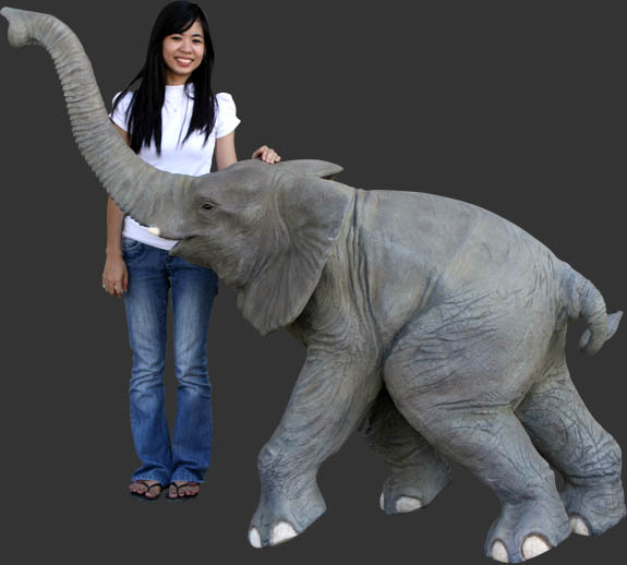 Fiberglass Walking Baby Elephant