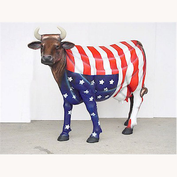 """ America The Beautiful "" Cow"