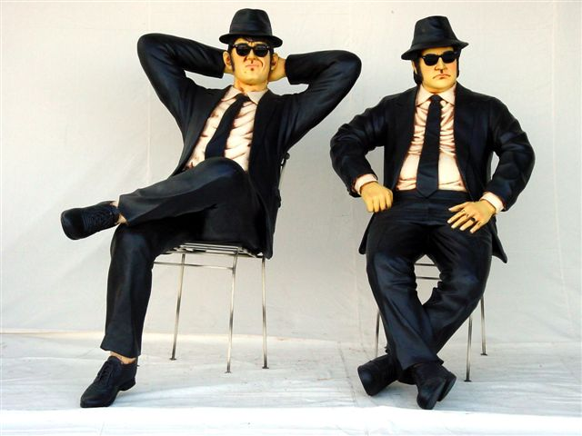 Sitting Pair of Blues Brothers