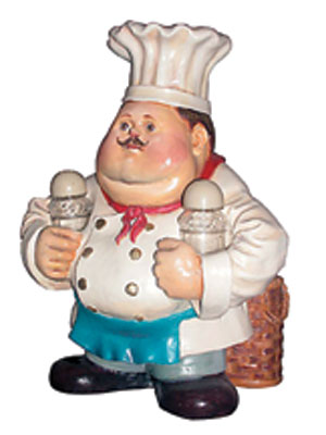 Chef Salt & Pepper Holder