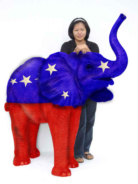 Republican Elephant Statue