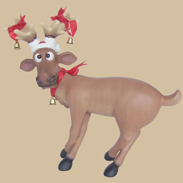 Funny Reindeer standing with crossed legs