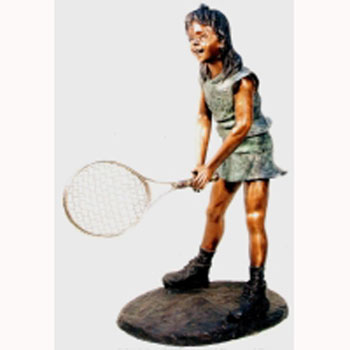 Bronze Girl Tennis Player