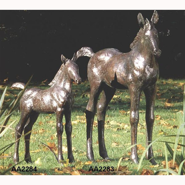 Bronze Colt Foal Baby Horse - Click Image to Close