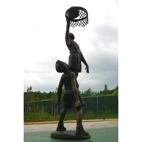 Bronze Two Boys playing Basketball