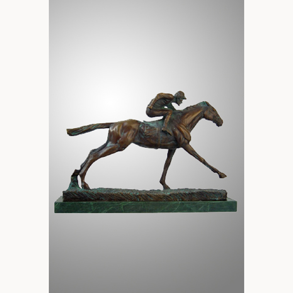 Bronze Jockey on Horse