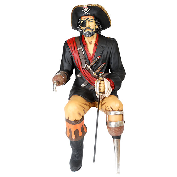 Sitting Pirate Statue