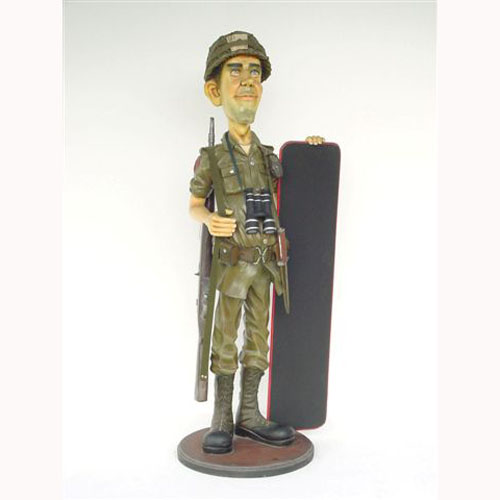Soldier with Black Board