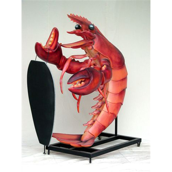 Large Lobster with a Menu / Blackboard