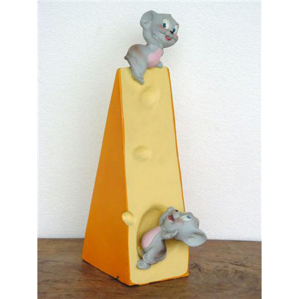 Mice on a wedge of Cheese